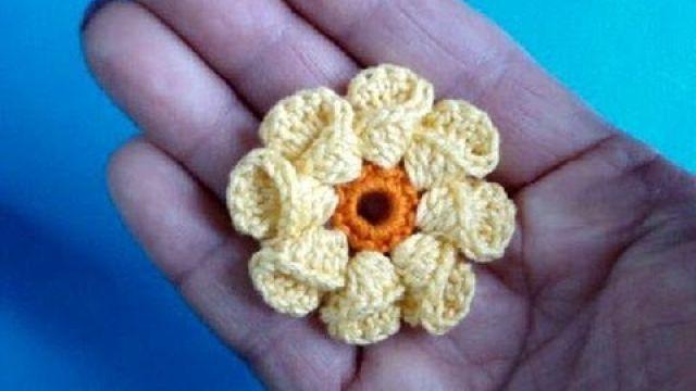 Вязание крючком - Объёный цветок
