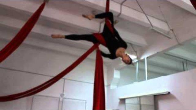 Урок по воздушной гимнастике на полотнах - Обрыв