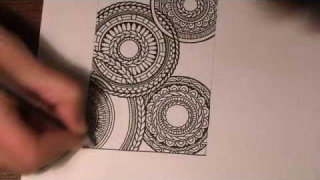 Рисунок и рамка. Дудлинг и пирография