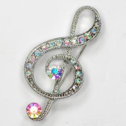 Брошка Скрипичный ключ